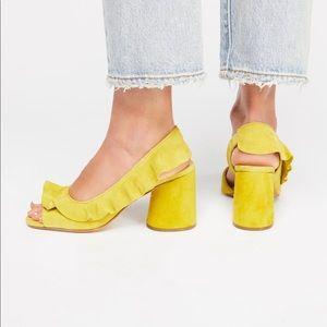 NWT Free People coryn ruffle heel